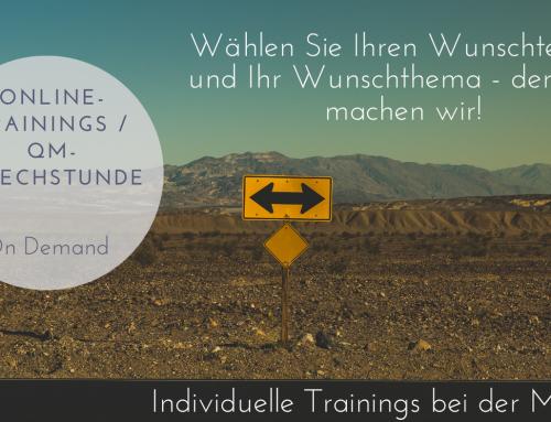 QM-Training und Beratung on Demand